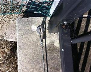Dangerous staticline end anchor