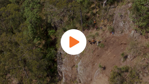 Rope access geotechnical video