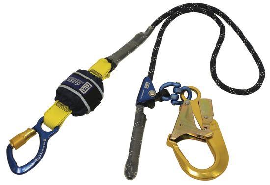 SALA Force 2 Adjustable Cut Resistant Rope Fall Arrest Lanyard